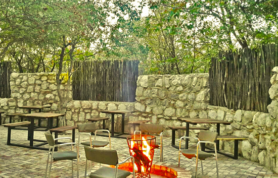 Bar Area with firepit