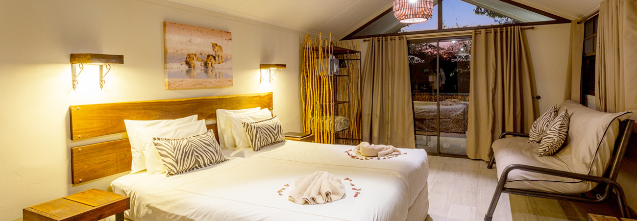 Etosha Village Lodge accommodation, Namibia